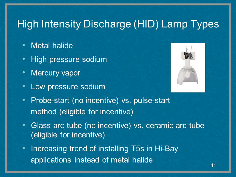 High Intensity Discharge (HID) Lamp Types