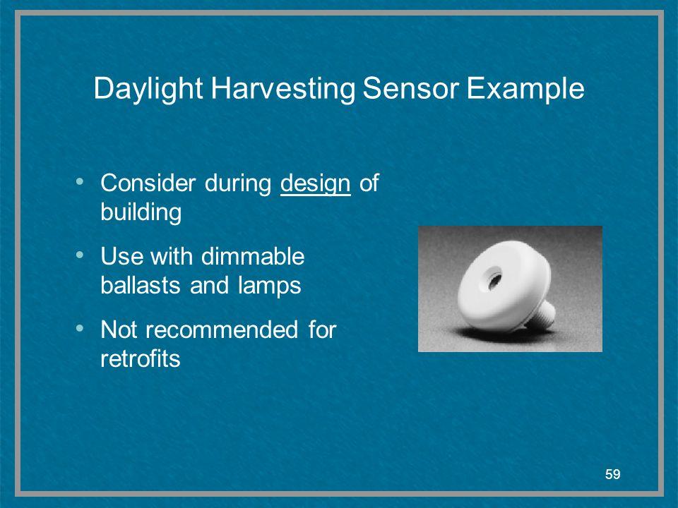 Daylight Harvesting Sensor Example