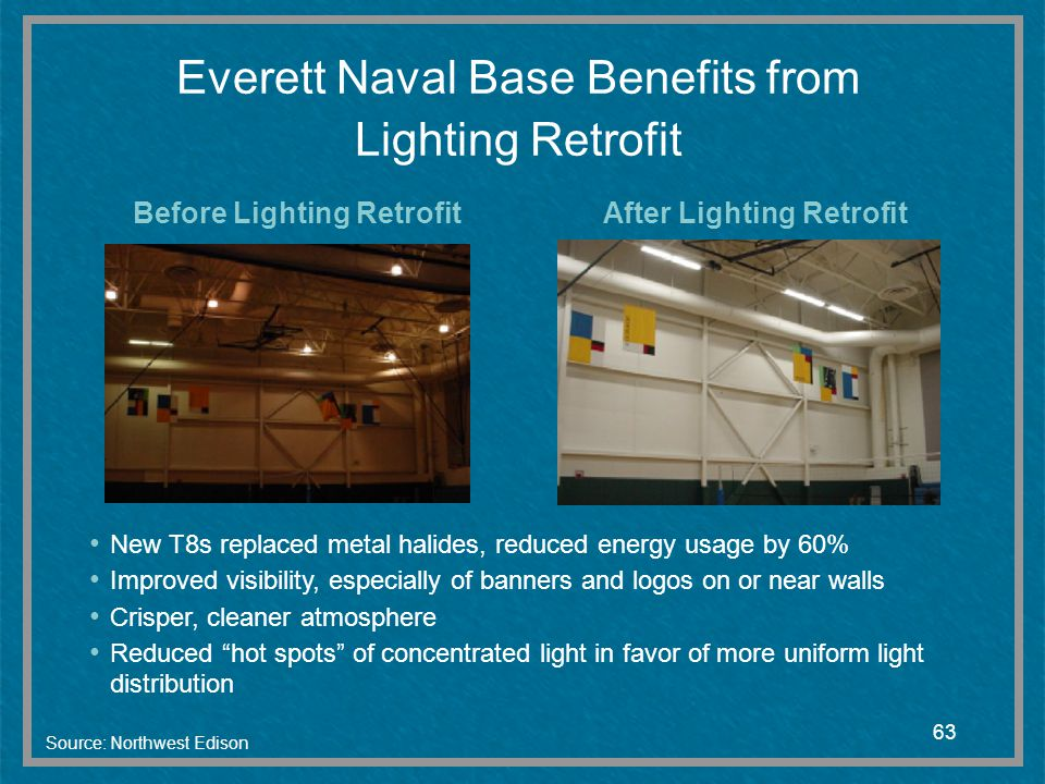 Everett Naval Base Benefits from Lighting Retrofit
