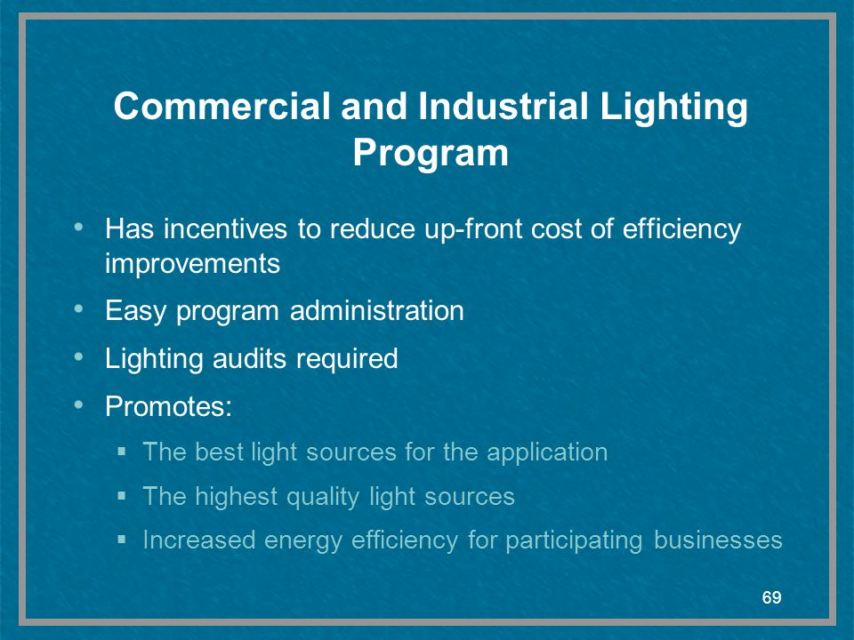 Commercial and Industrial Lighting Program