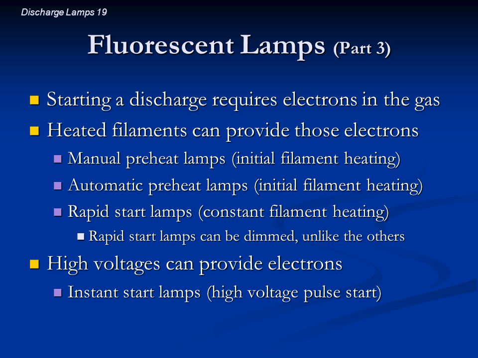 Fluorescent Lamps (Part 3)