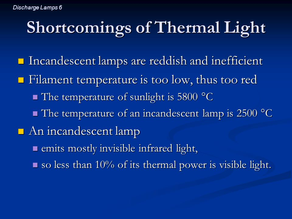 Shortcomings of Thermal Light