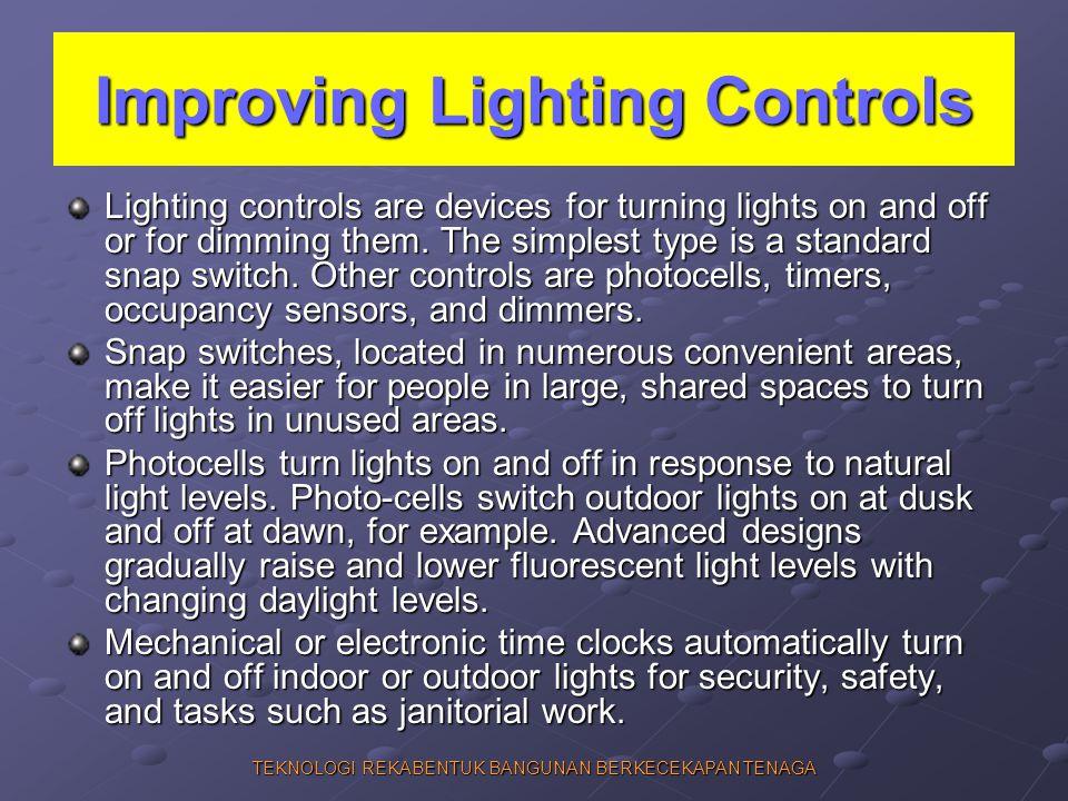 Improving Lighting Controls