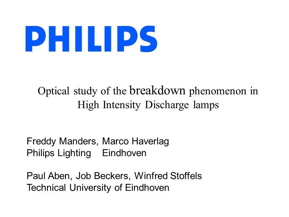 Optical study of the breakdown phenomenon in High Intensity Discharge lamps