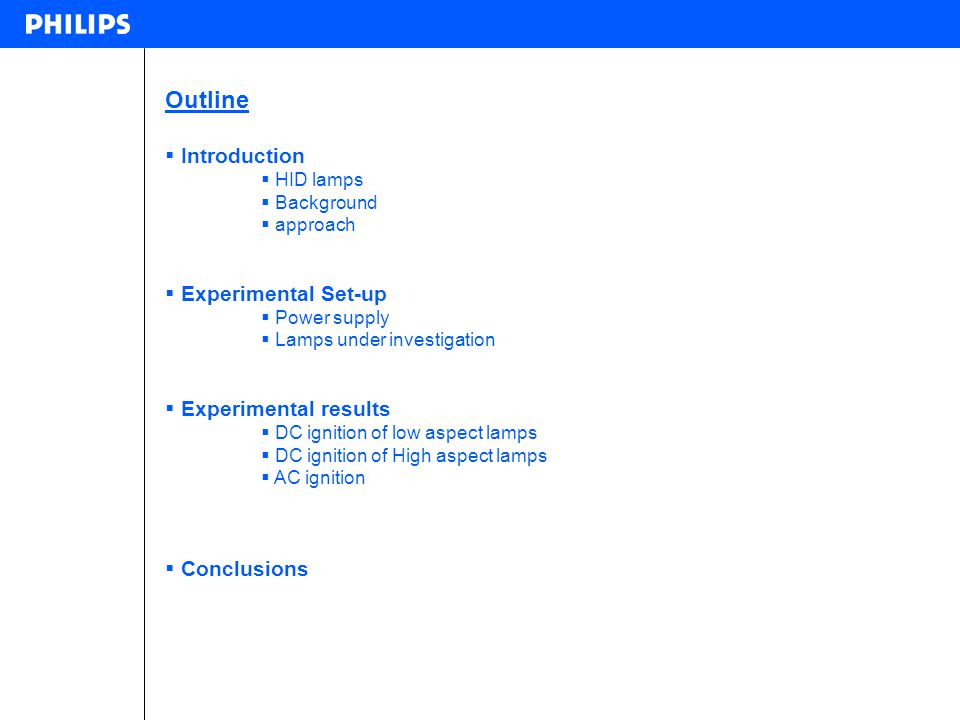 Outline Introduction Experimental Set-up Experimental results