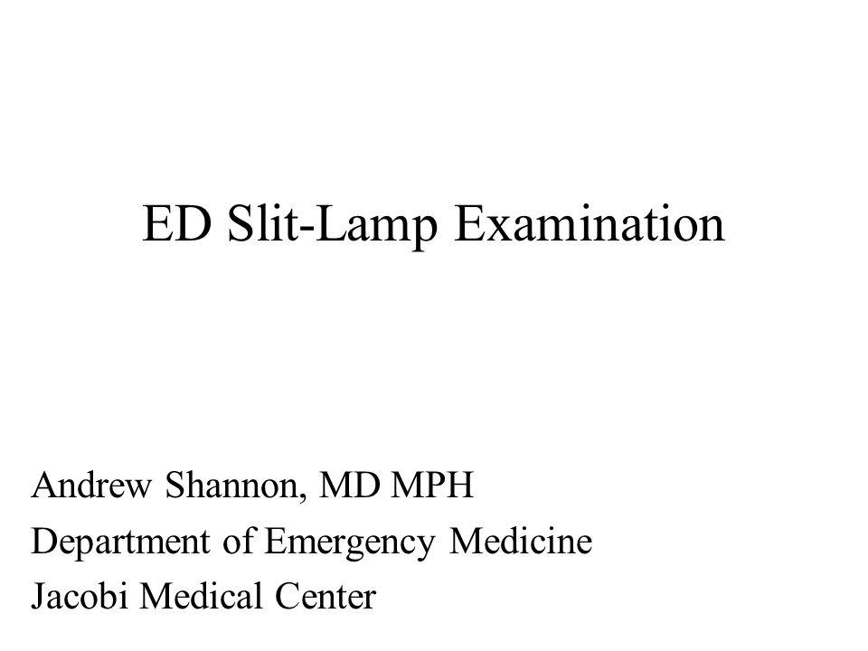 ED Slit-Lamp Examination