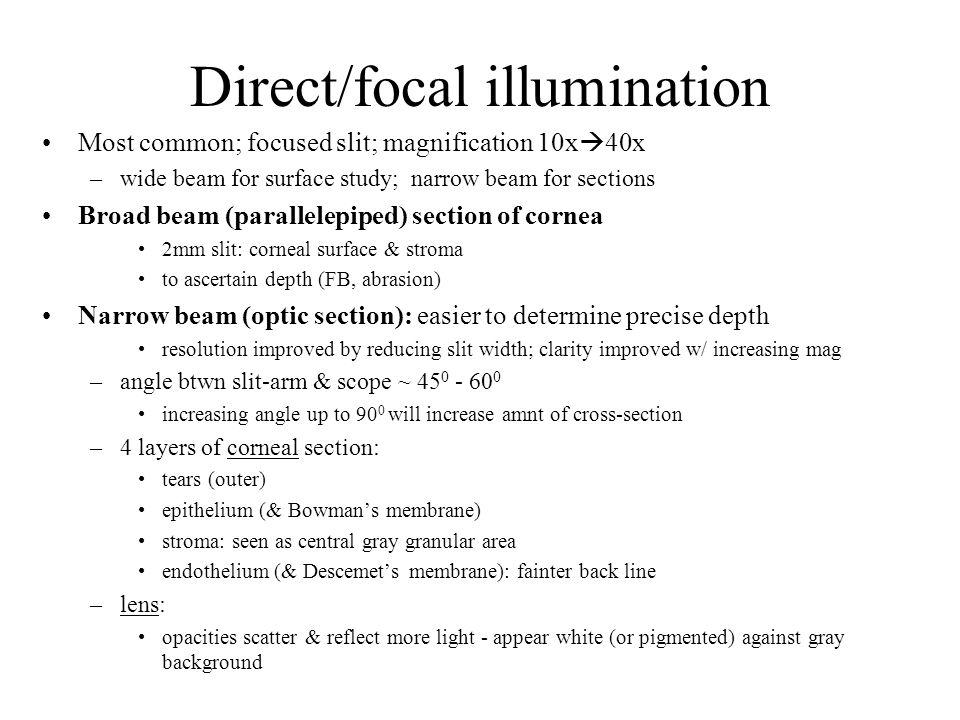 Direct/focal illumination