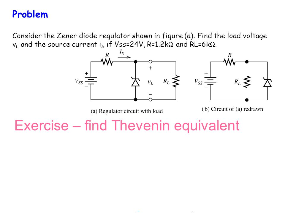 Exercise – find Thevenin equivalent