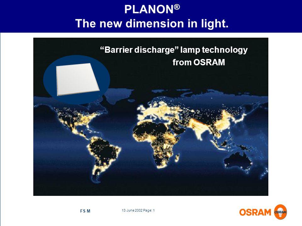 PLANON® The new dimension in light.