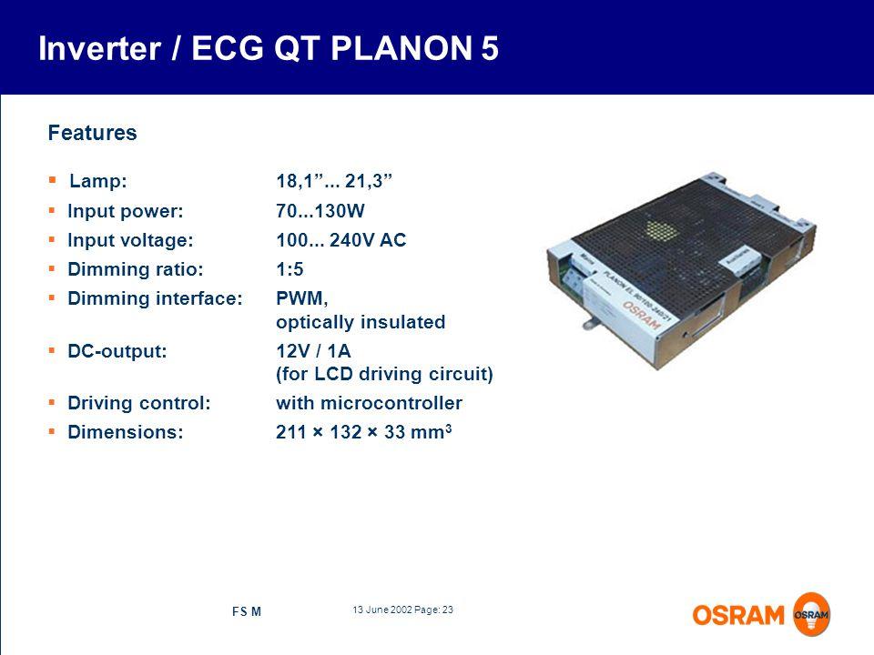 Inverter / ECG QT PLANON 5