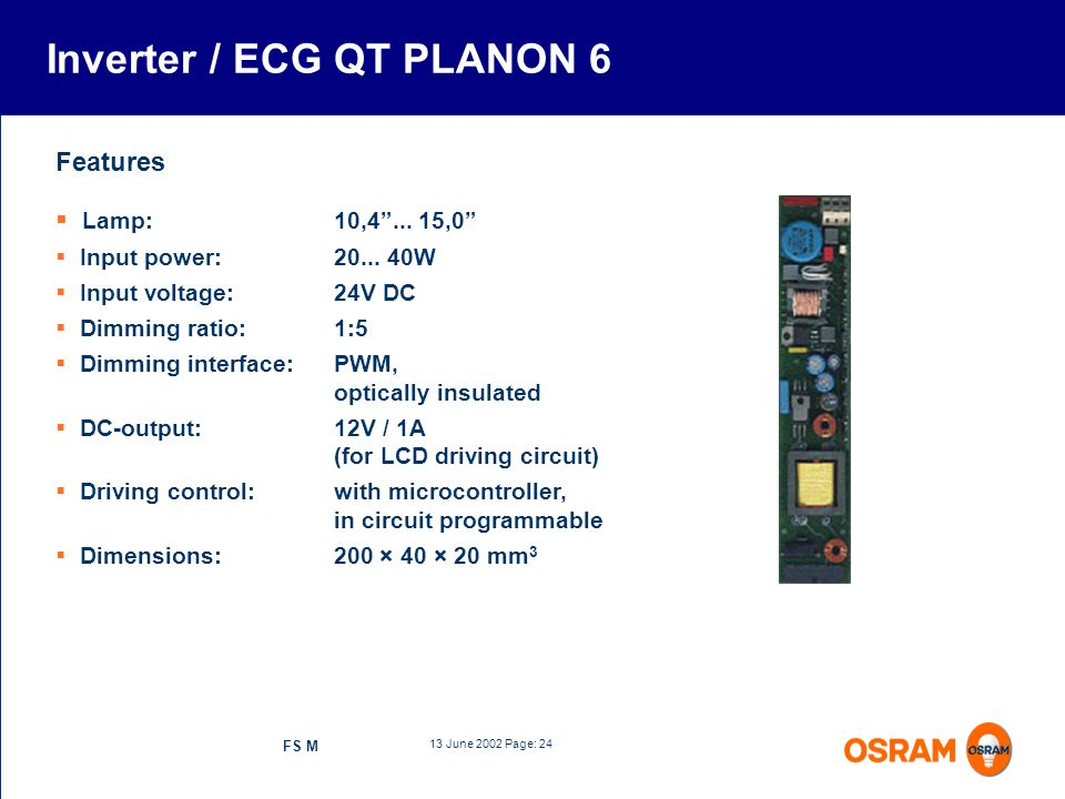 Inverter / ECG QT PLANON 6