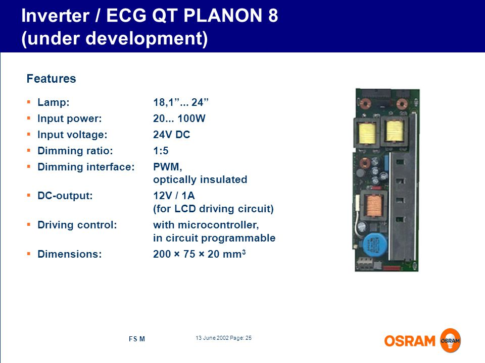 Inverter / ECG QT PLANON 8 (under development)