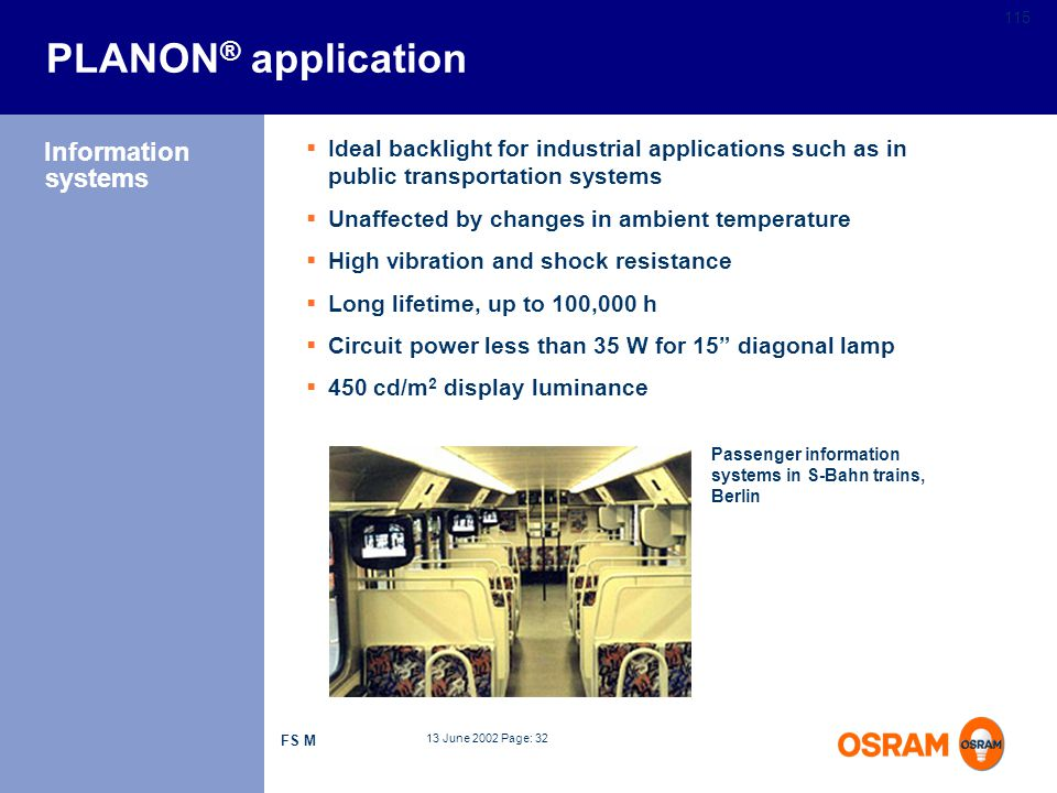 PLANON® application Information systems