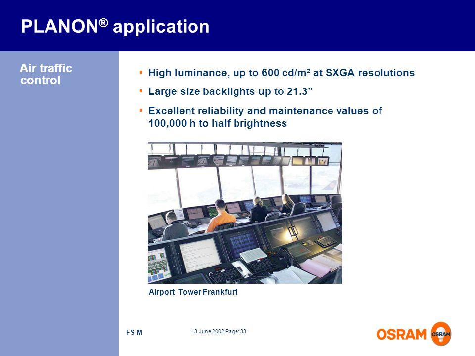 PLANON® application Air traffic control