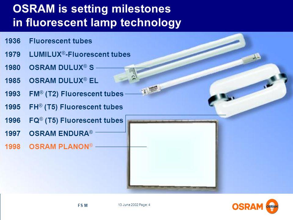 OSRAM is setting milestones in fluorescent lamp technology
