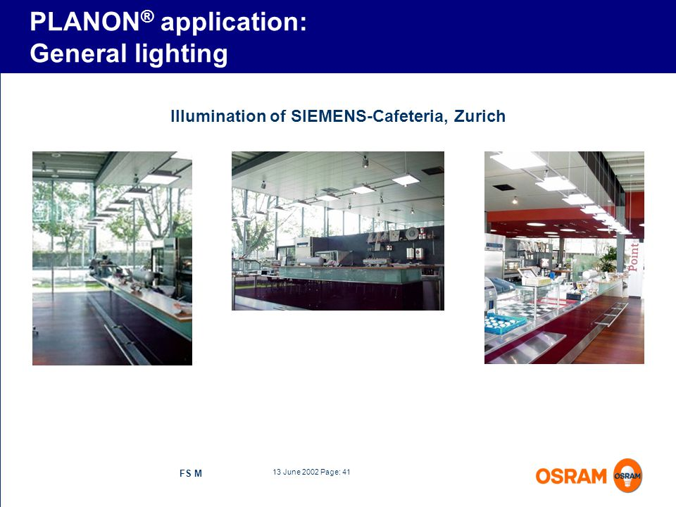 PLANON® application: General lighting