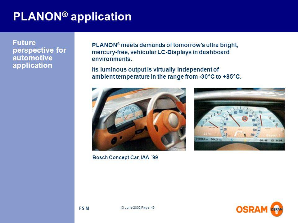 PLANON® application Future perspective for automotive application