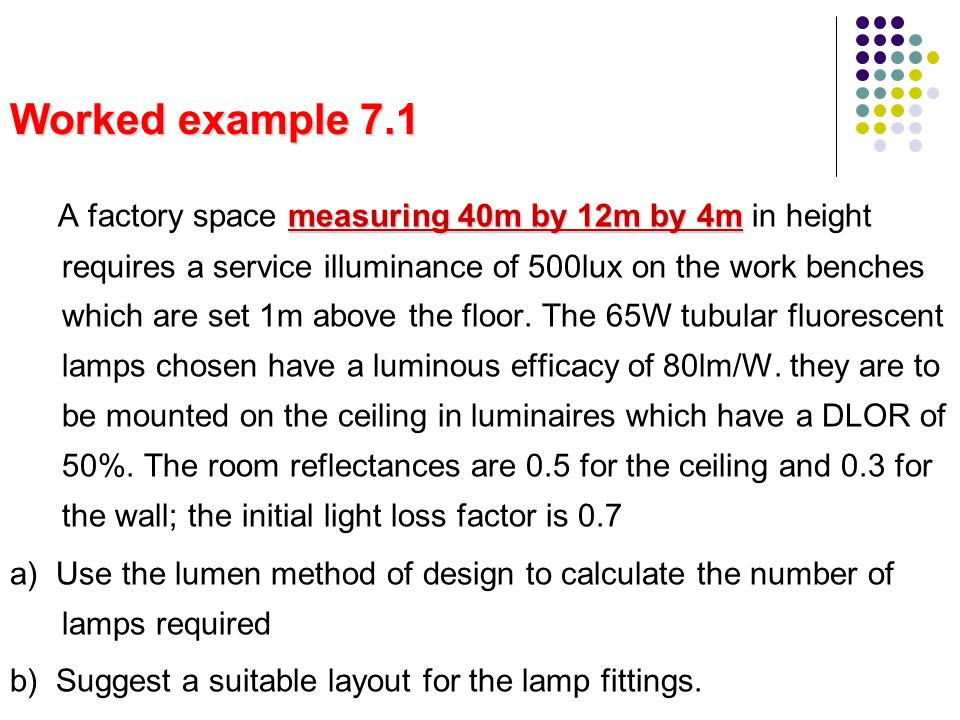 Worked example 7.1