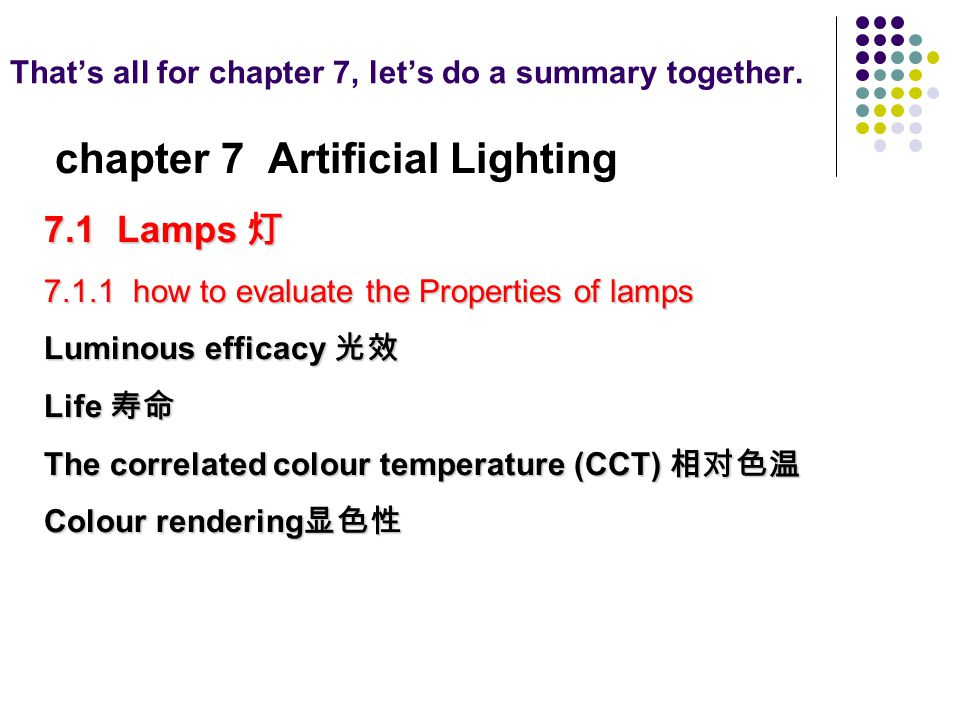 That's all for chapter 7, let's do a summary together.