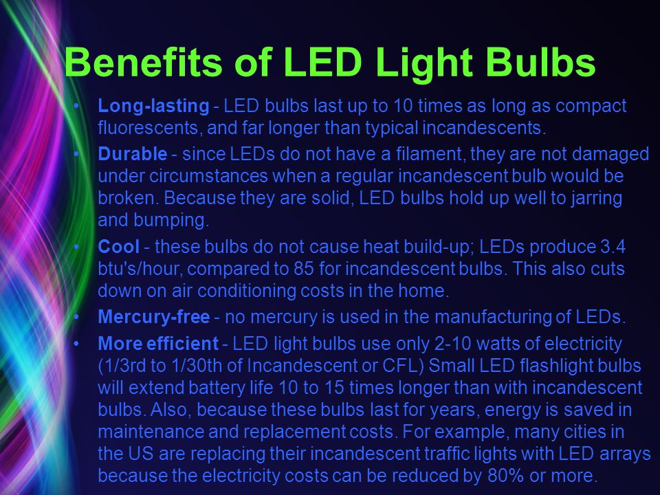 Benefits of LED Light Bulbs