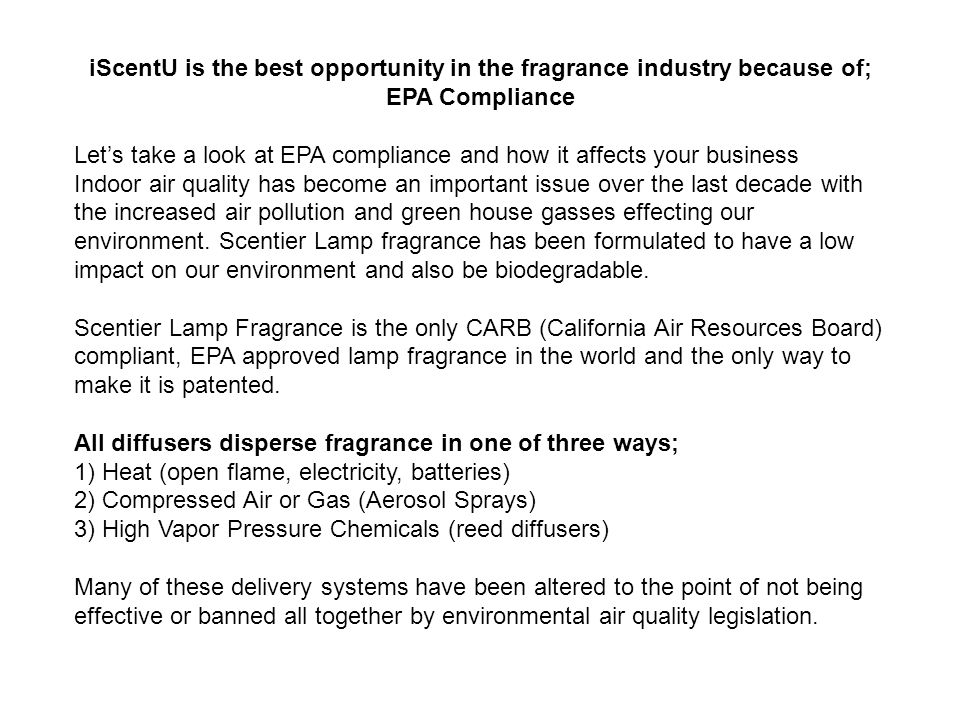 iScentU is the best opportunity in the fragrance industry because of;