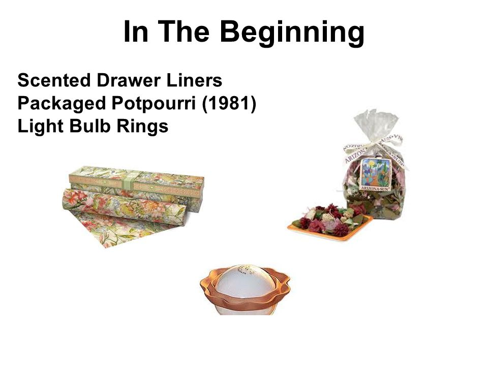 In The Beginning Scented Drawer Liners Packaged Potpourri (1981)