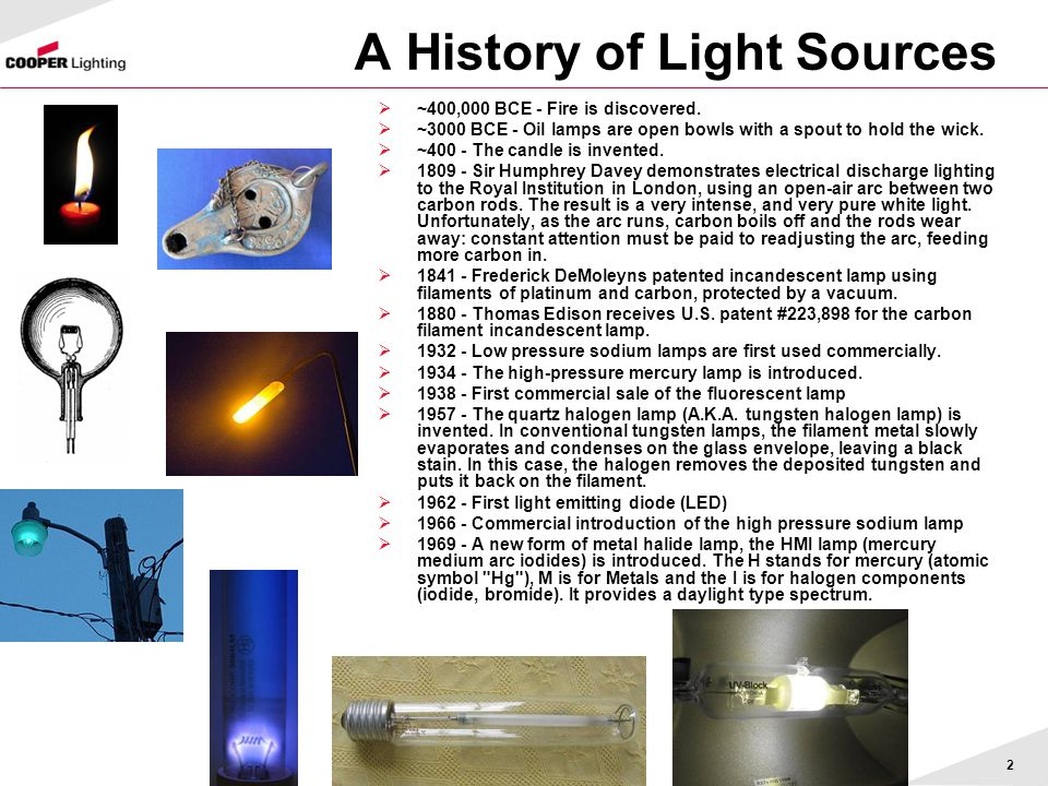 A History of Light Sources