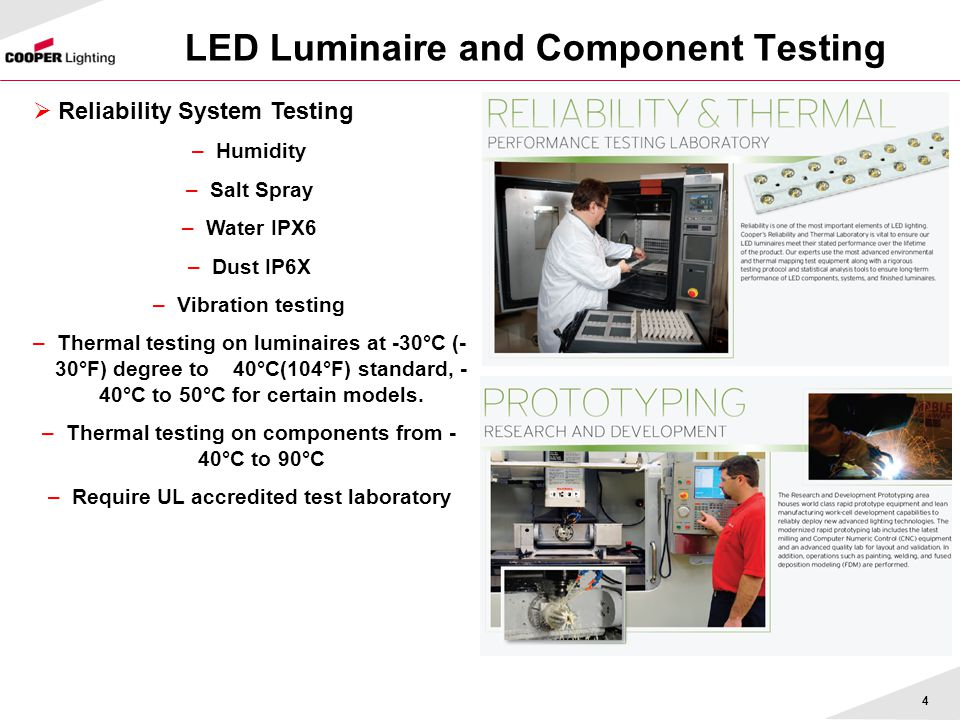 LED Luminaire and Component Testing