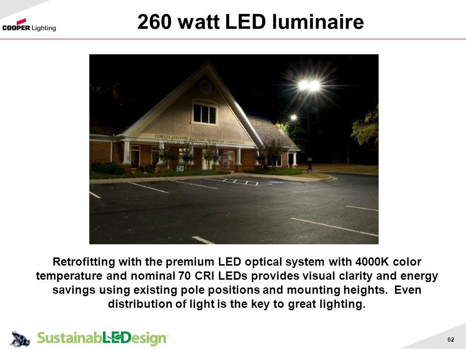 260 watt LED luminaire