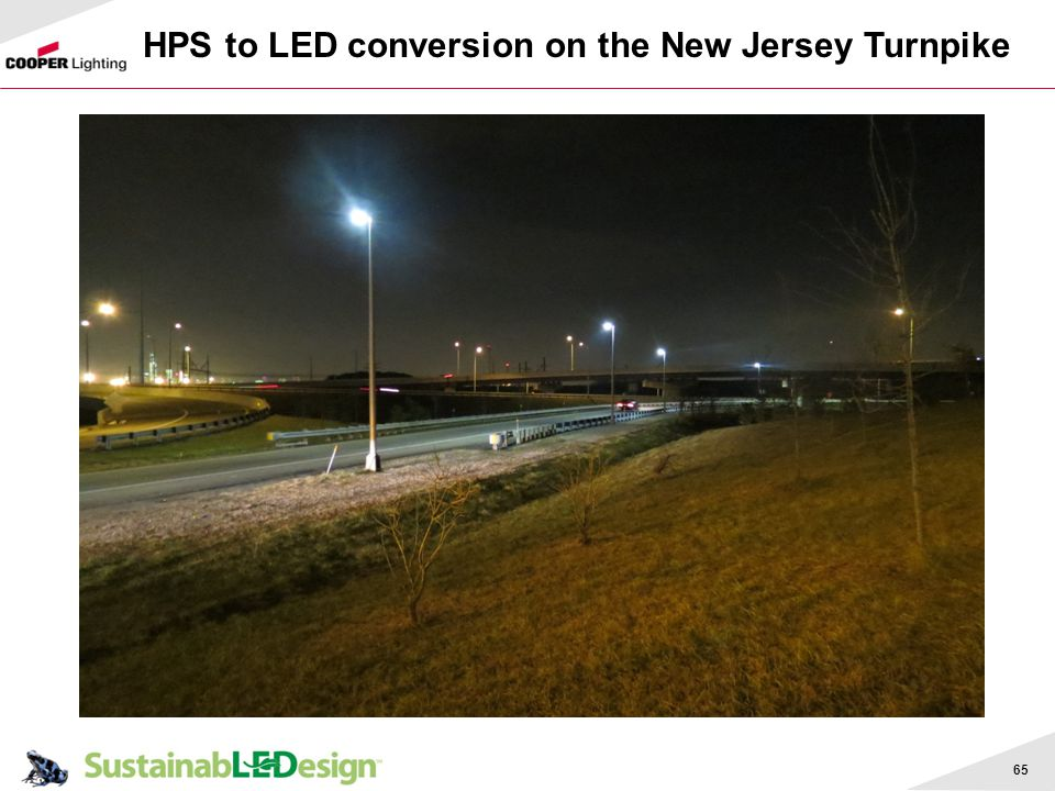 HPS to LED conversion on the New Jersey Turnpike
