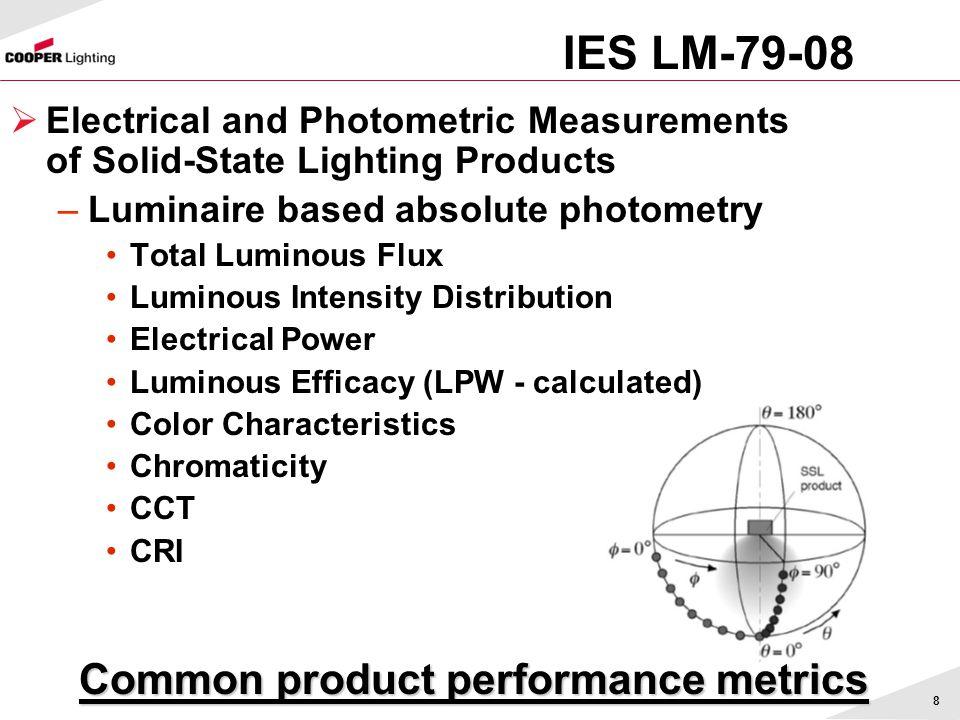 Common product performance metrics