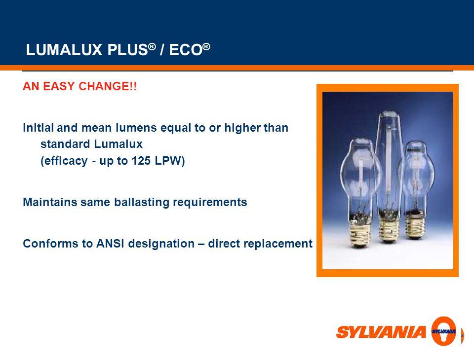 LUMALUX PLUS® / ECO® AN EASY CHANGE!!