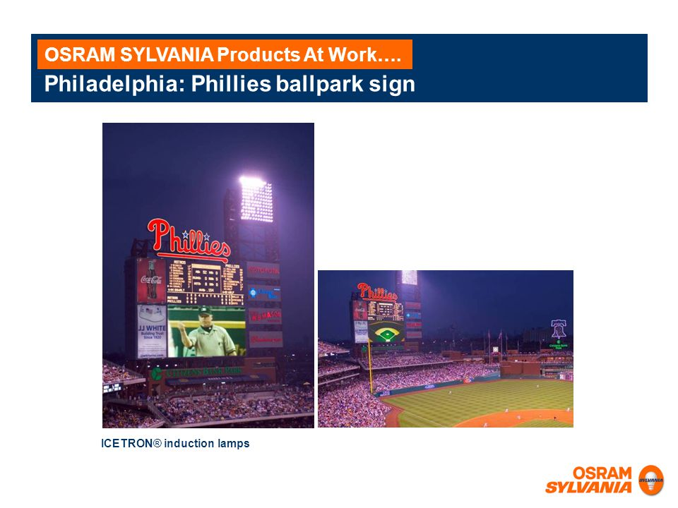 Philadelphia: Phillies ballpark sign