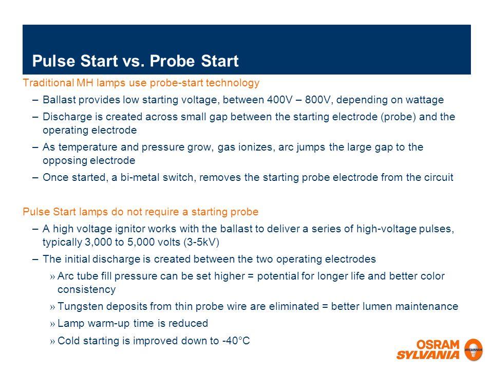 Pulse Start vs. Probe Start