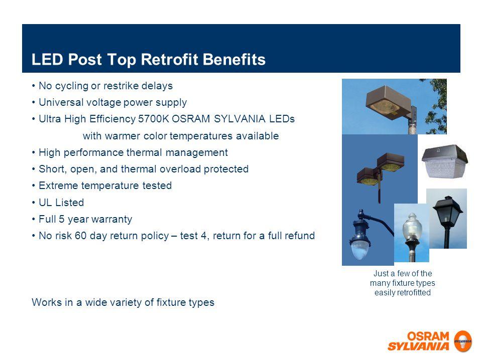 LED Post Top Retrofit Benefits