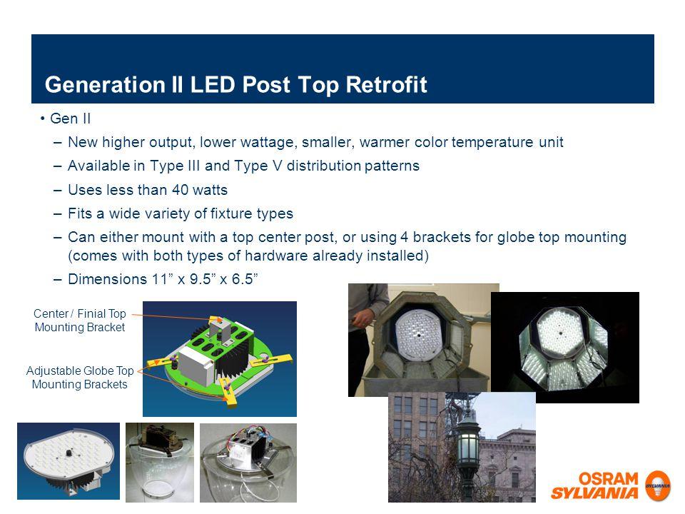 Generation II LED Post Top Retrofit