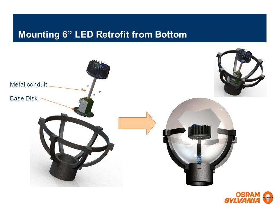 Mounting 6 LED Retrofit from Bottom