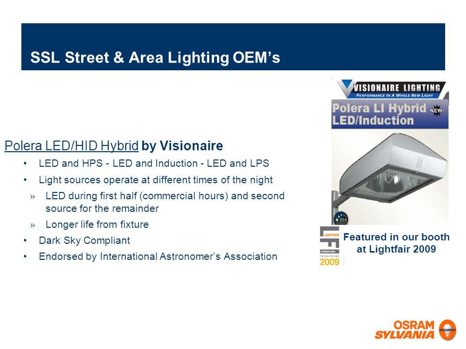 SSL Street & Area Lighting OEM's