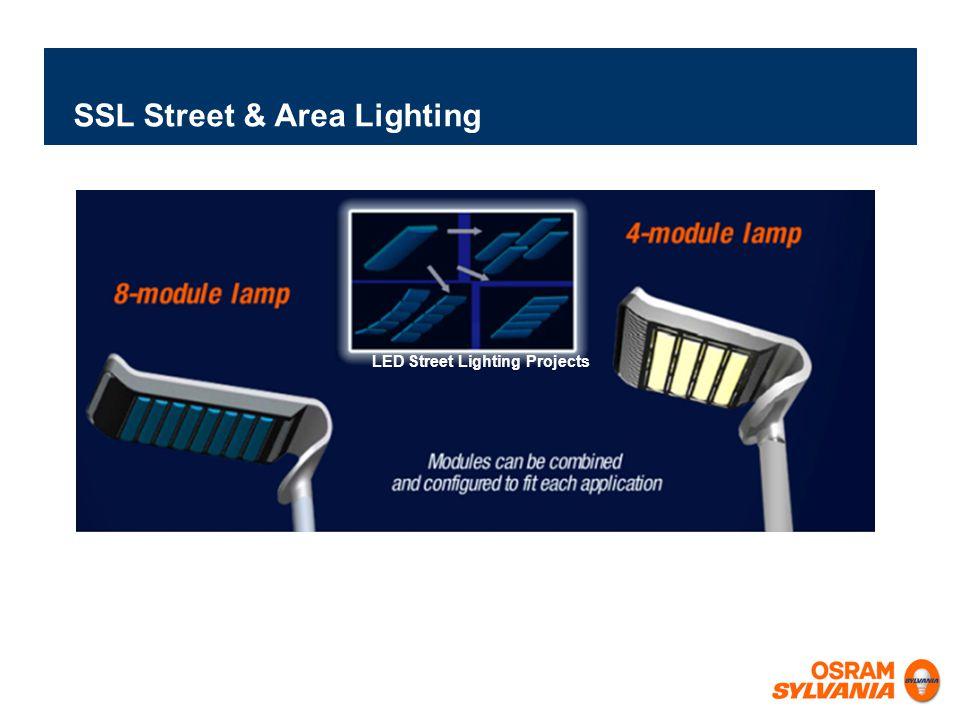 SSL Street & Area Lighting LED Street Lighting Projects