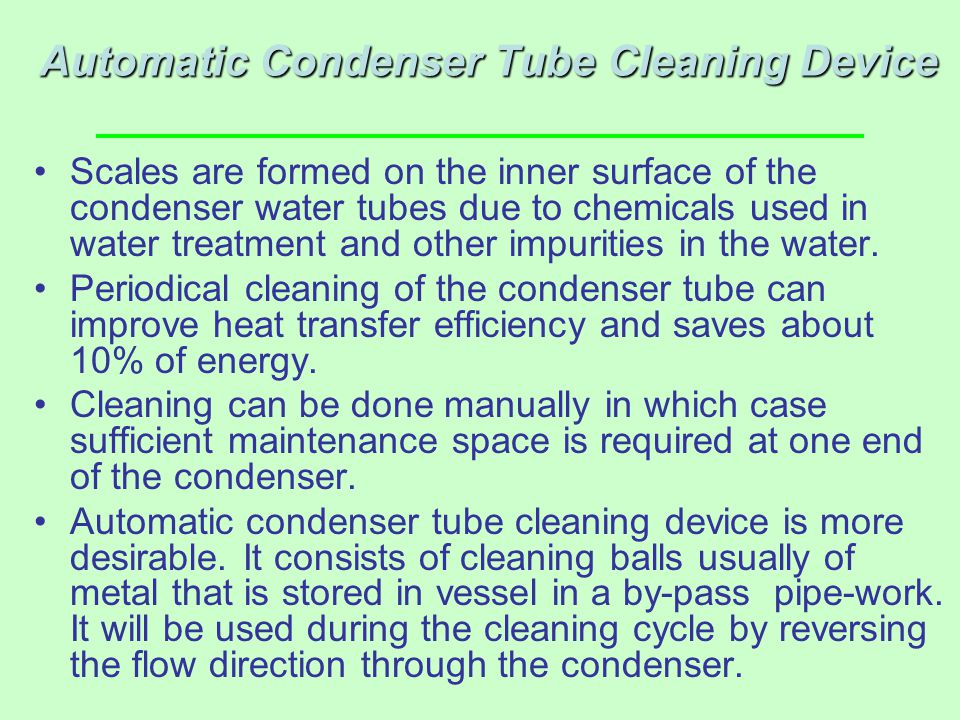 Automatic Condenser Tube Cleaning Device