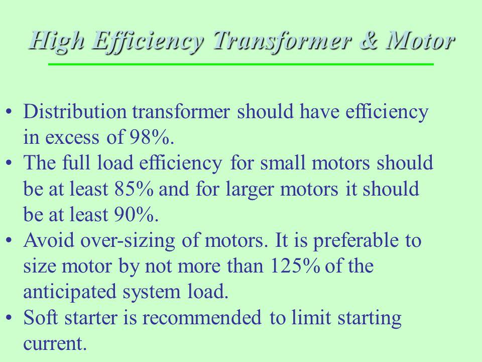 High Efficiency Transformer & Motor