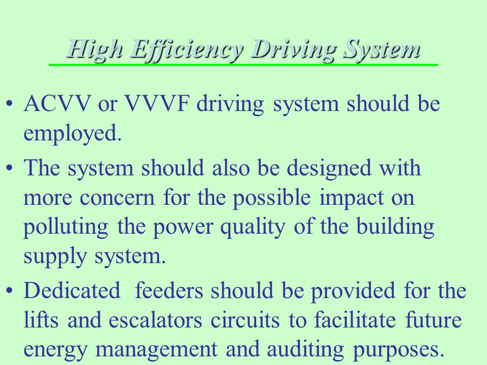 High Efficiency Driving System