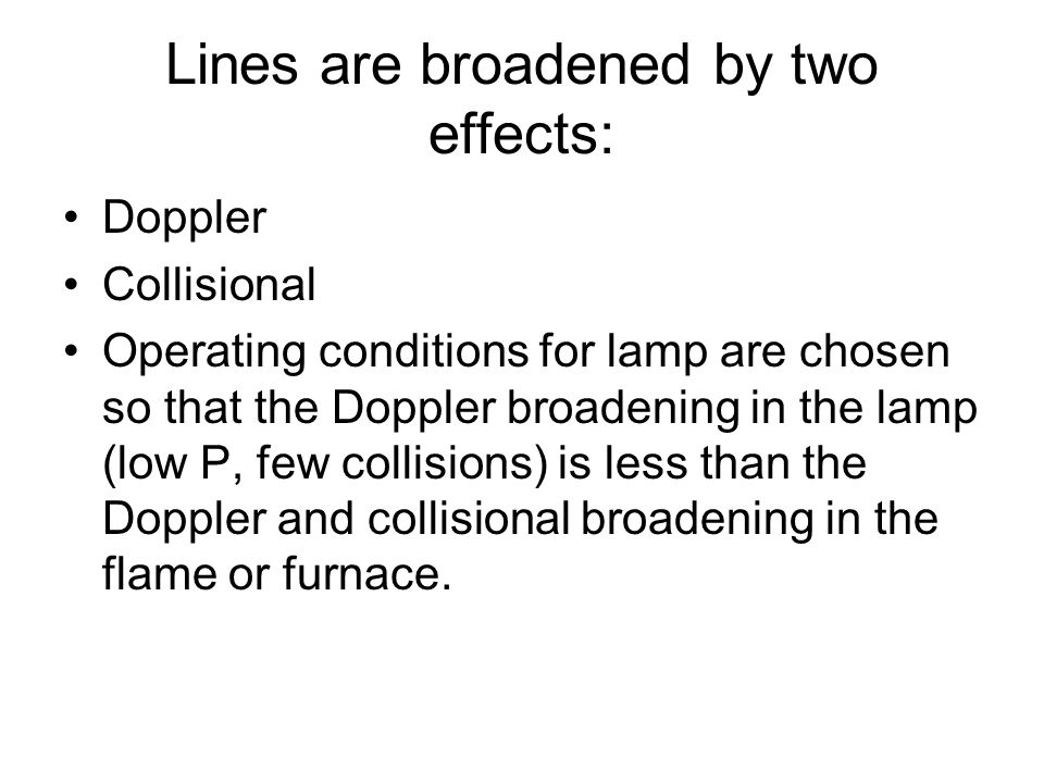 Lines are broadened by two effects: