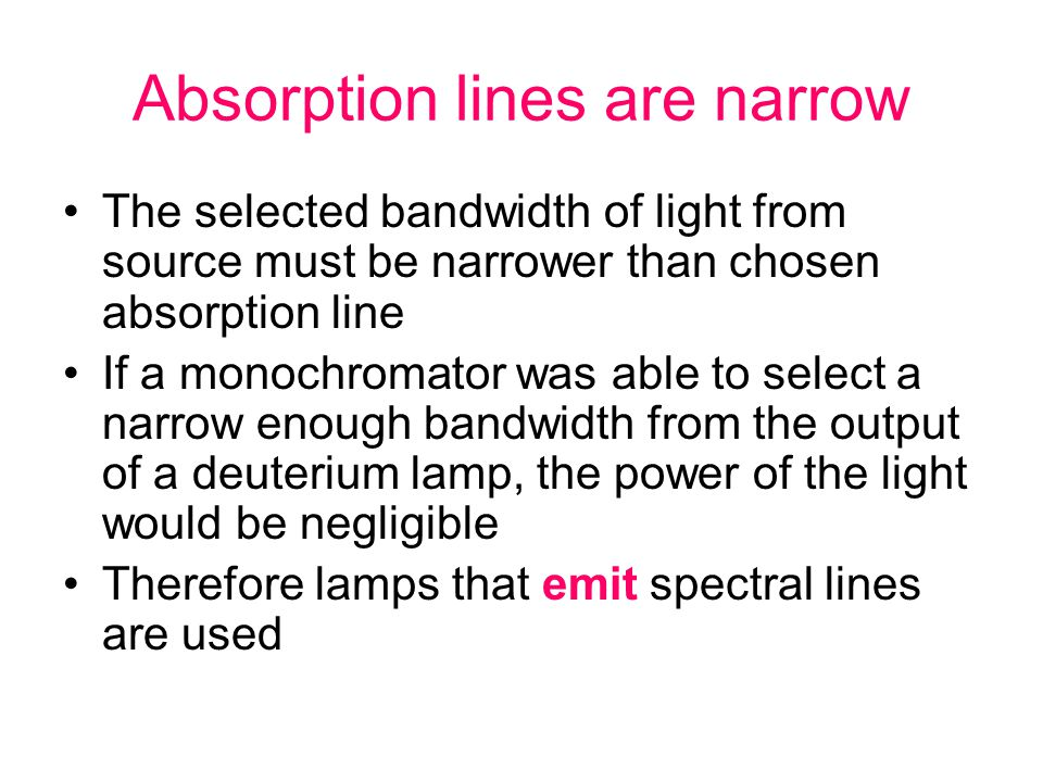 Absorption lines are narrow