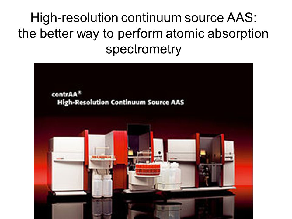 High-resolution continuum source AAS: the better way to perform atomic absorption spectrometry