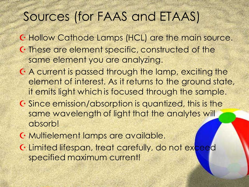 Sources (for FAAS and ETAAS)
