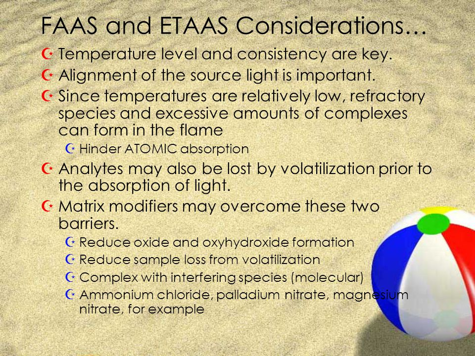 FAAS and ETAAS Considerations…