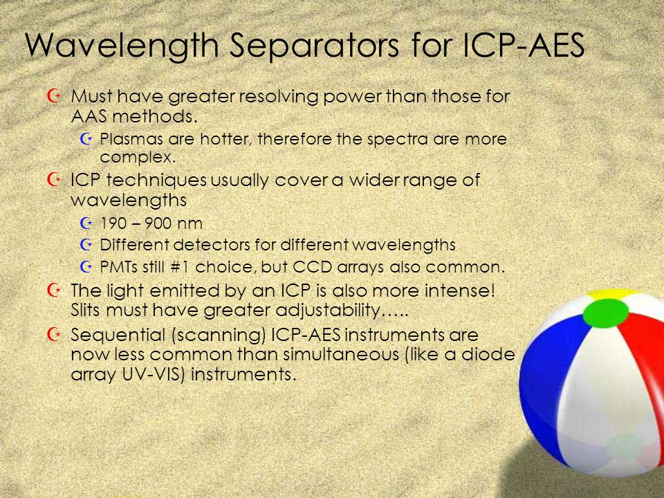 Wavelength Separators for ICP-AES