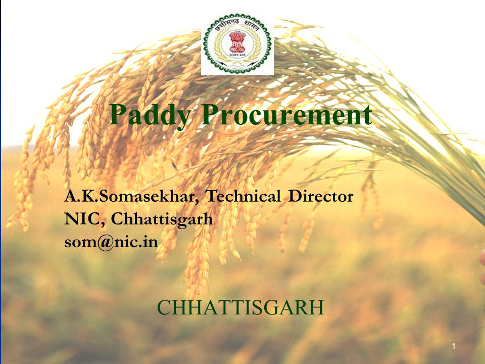 Paddy Procurement CHHATTISGARH