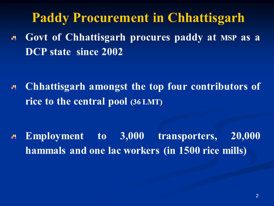 Paddy Procurement in Chhattisgarh